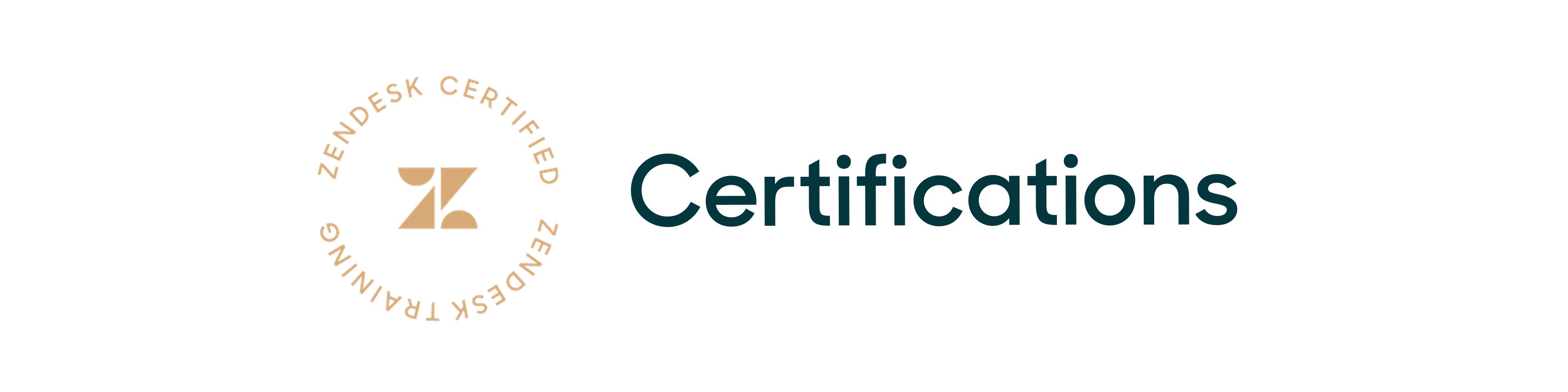 Zendesk Certifications