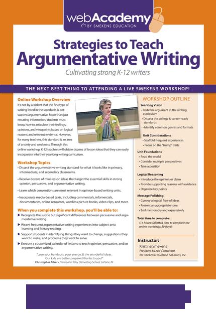 argumentative strategies essay