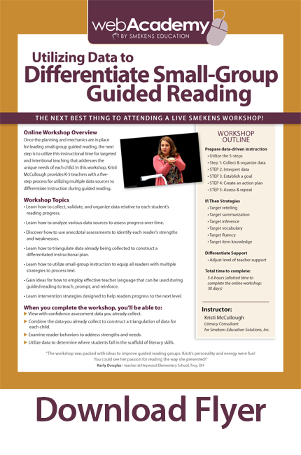 Utilizing Data To Differentiate Small Group Guided Reading