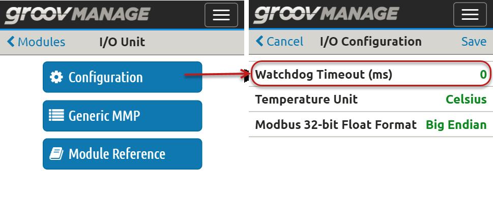 Configure Watchdog Timeout