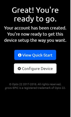 Choose Quick Start of Configure