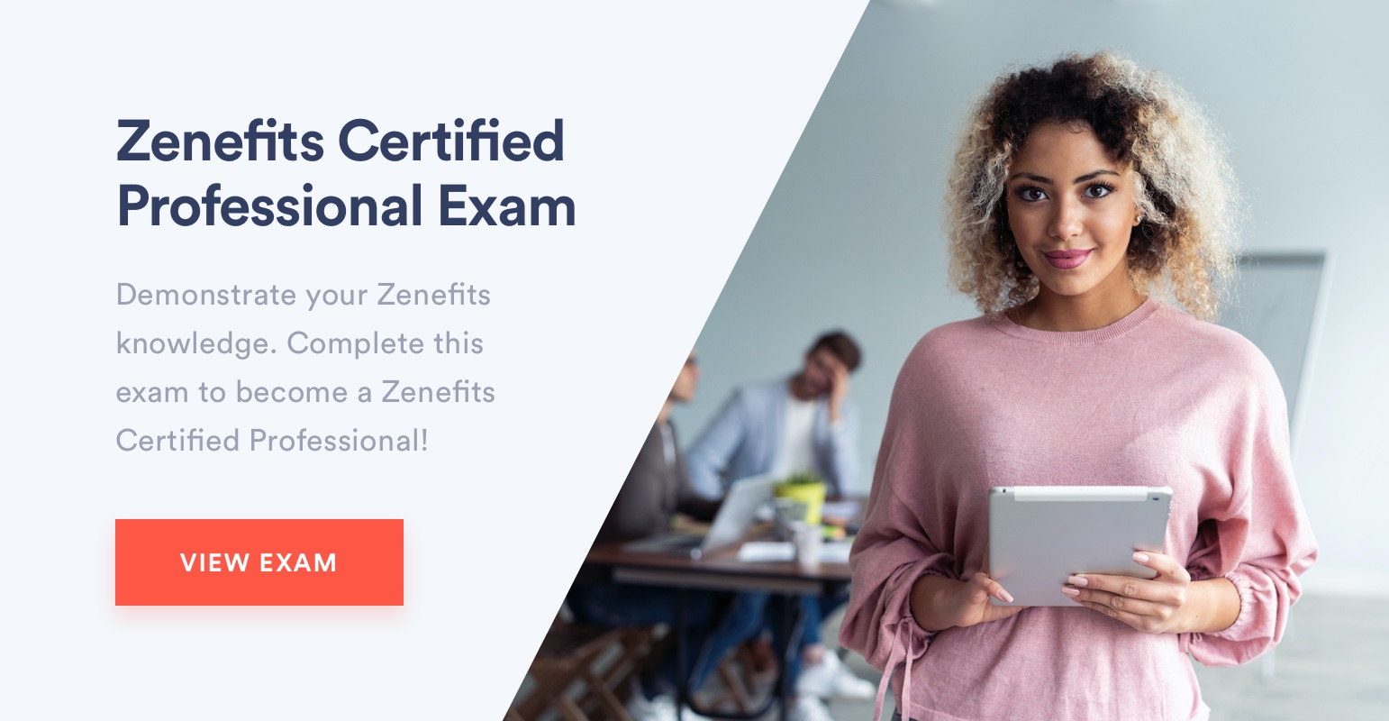 Zenefits Certified Exam